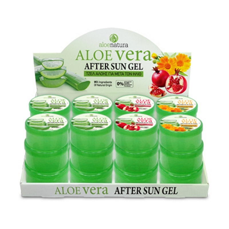 ALOE NATURA SET VASE AFTER SUN GEL 200ml (24τεμ. ΣΥΣΚΕΥΑΣΙΑ)