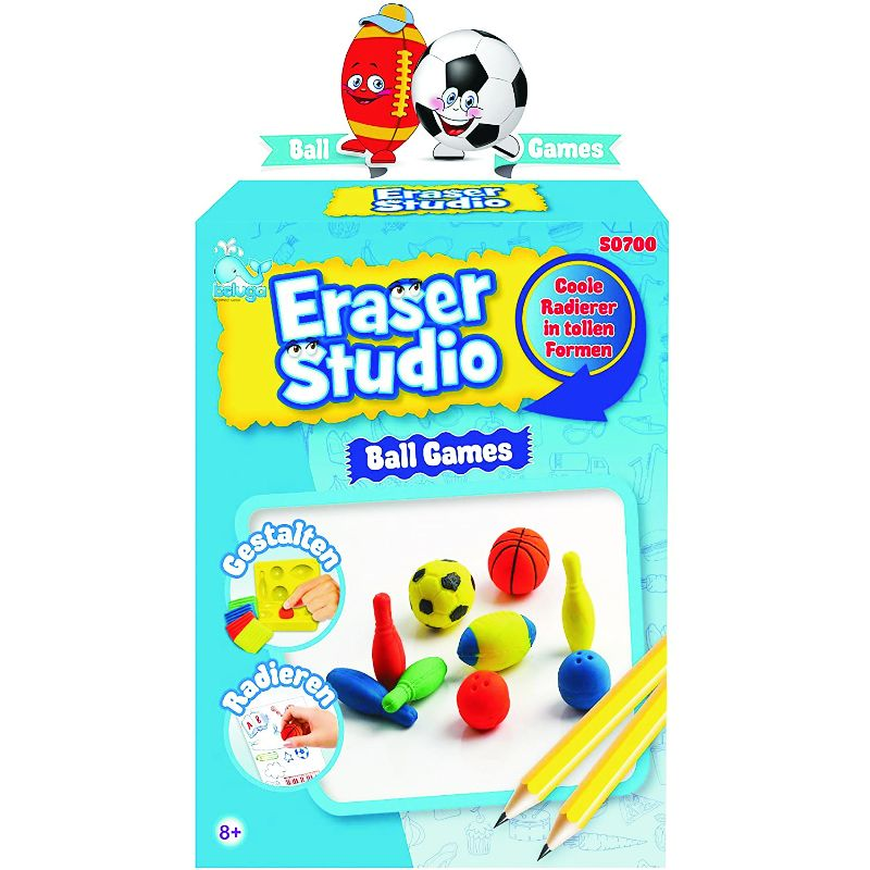 BELUGA ERASER STUDIO BALL GAMES 15X27εκ